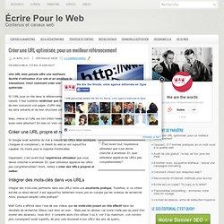 URL optimisée = meilleur référencement
