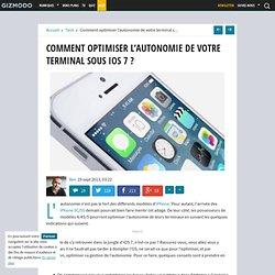Comment optimiser l'autonomie de votre terminal sous iOS 7 ?