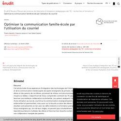 Optimiser la communication famille-école par l'ut… – Revue des sciences de l'éducation