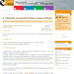 Optimiser son portail E-sidoc, niveau confirmé - e