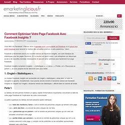 Comment Optimiser Votre Page Facebook Avec Facebook Insights