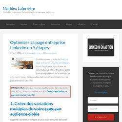 Optimiser sa page entreprise linkedin en 5 étapes