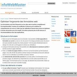 Optimiser l'ergonomie des formulaires web