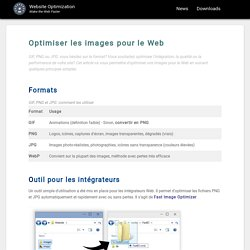 Optimiser les images Web