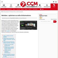 Netvibes : optimiser sa veille d'informations