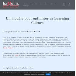 Un modèle pour optimiser sa Learning Culture - Formetris