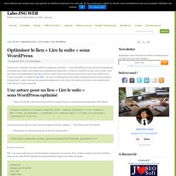 """Optimiser le lien """"Lire la suite"""" sous WordPress"""