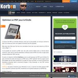 Optimiser un PDF pour le Kindle