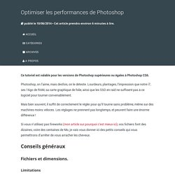 Optimiser les performances de Photoshop