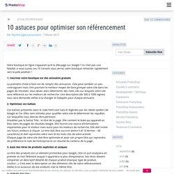 10 astuces pour optimiser son référencement