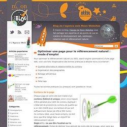 Optimiser une page pour le référencement naturel: mode d'emploi « Moon Websites