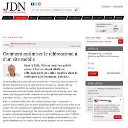 Comment optimiser le référencement d'un site mobile - Journal du Net Solutions