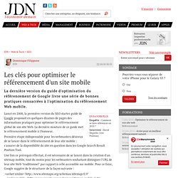 Les clés pour optimiser le référencement d'un site mobile - Journal du Net Solutions