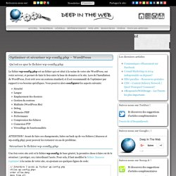 Optimiser et sécuriser le fichier wp-config.php - WordPress