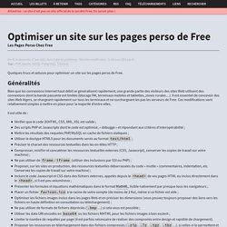 Optimiser un site sur les pages perso de Free