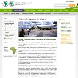 BAD (2012), Optimiser les transferts des migrants