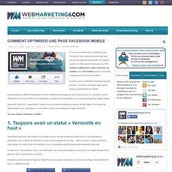 Comment optimiser une Page Facebook mobile