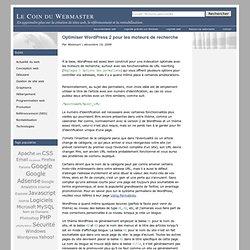 Optimiser Wordpress 2 pour les moteurs de recherche