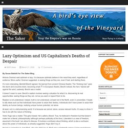 Lazy Optimism and US Capitalism's Deaths of Despair