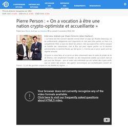 Pierre Person : «On a vocation à être une nation crypto-optimiste et accueillante»