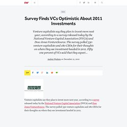 Survey Finds VCs Optimistic About 2011 Investments