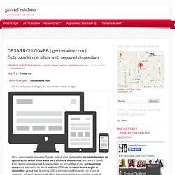 Optimización de sitios web según el dispositivo « human being
