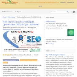 How important is Search Engine Optimization (SEO) for your Website?