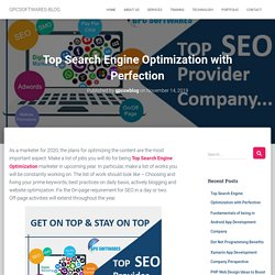 Top Search Engine Optimization with Perfection
