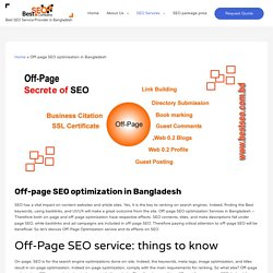 Off-page SEO optimization -Off-Page SEO service in Bangladesh