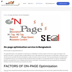 On-page optimization service in Bangladesh - Best SEO BD