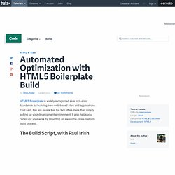 Automated Optimization with HTML5 Boilerplate Build