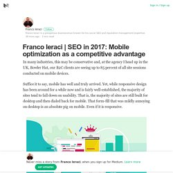 SEO in 2017: Mobile optimization as a competitive advantage