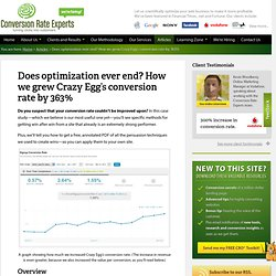 Does optimization ever end? How we grew Crazy Egg's revenue by 510%
