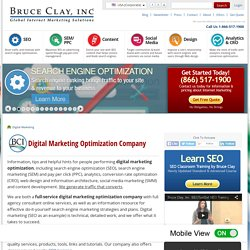 BruceClay - Internet Marketing Optimization Company: SEO, PPC, SMO, Conversion, Design, Analytics Agency