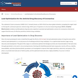 Lead Optimization for the Antiviral Drug Discovery of Coronavirus