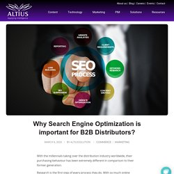 Why Search Engine Optimization is important for B2B Distributors? - Altius solution