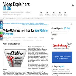 Video Optimization Tips for Your Online Presence ← Video Explainers BLOG