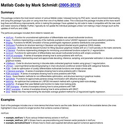 Matlab Code by Mark Schmidt (optimization, graphical models, machine learning)