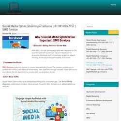 Social Media Optimization Importantance