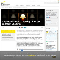 Cost Optimization to Improve the Business Cost - EY - India