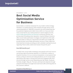Best Social Media Optimization Service for Business