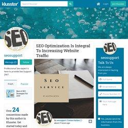 SEO Optimization Is Integral To Increasing Website Traffic