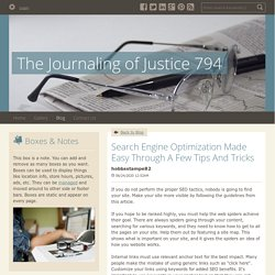 Search Engine Optimization Made Easy Through A Few Tips And Tricks - The Journaling of Justice 794 : powered by Doodlekit