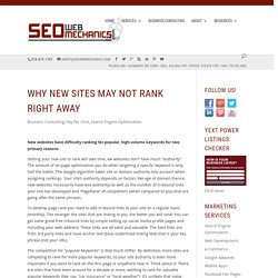 Getting New Websites to Rank
