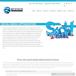 Social Media Optimization - Mystech Dynamics