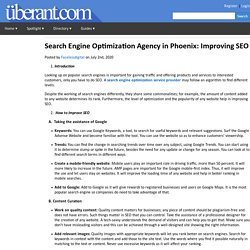 Search Engine Optimization Agency in Phoenix: Improving SEO