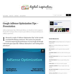 Google AdSense Optimization Tips - Presentation