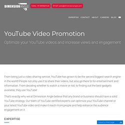 YouTube Video Creation, Optimization and Promotion Services