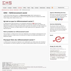 SMO - Social Media Optimization - Référencement social