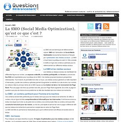 SMO - Social Media Optimization - Referencement naturel